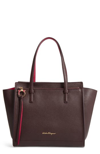 Salvatore Ferragamo Medium Bicolor Leather Tote -