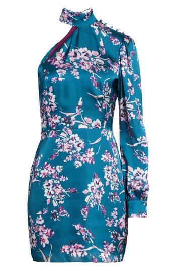Devlin Clover Cold Shoulder Sheath Dress, Blue