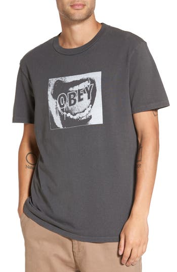 Obey Screamer Graphic T-Shirt, Black