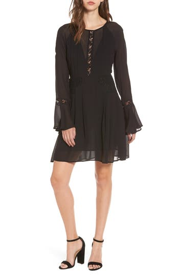 Astr The Label Katrina Minidress, Black