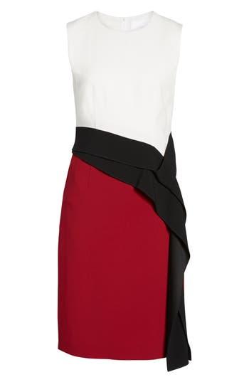 Boss Disalana Color Block Sheath Dress Red