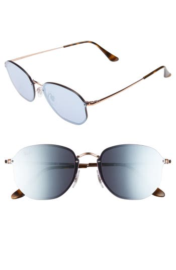 Ray-Ban Rimless 5m Sunglasses - Copper/ Dark Violet