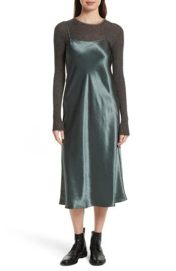 Women's Vince Midi Slipdress, Size X-Small - Green