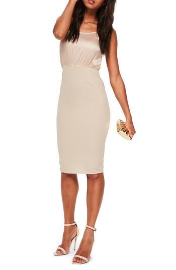 Missguided Body-Con Dress, US / 6 UK - Beige