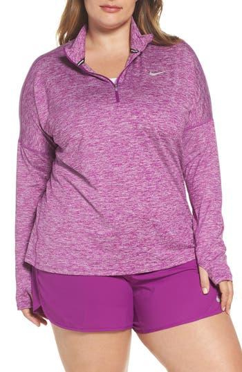 Plus Size Nike Dry Element Half Zip Top