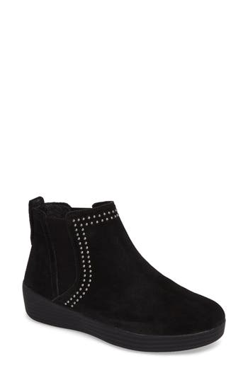 Fitflop(TM) Superchelsea Studded Boot- Black