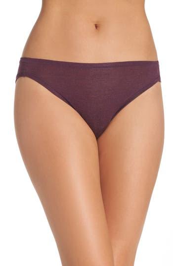 Women's Natori Bliss Essence Bikini, Size Large - Purple