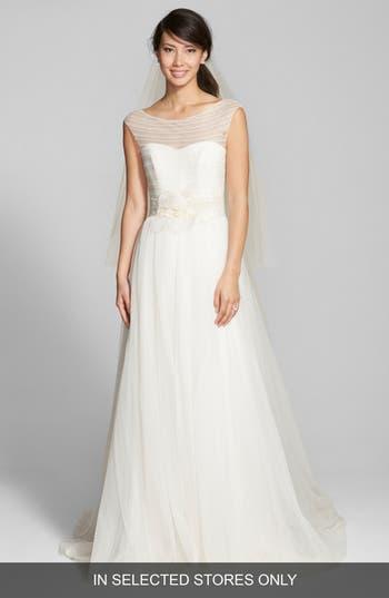 Jesus Peiro Embellished Waist Lace & Tulle Silk Dress