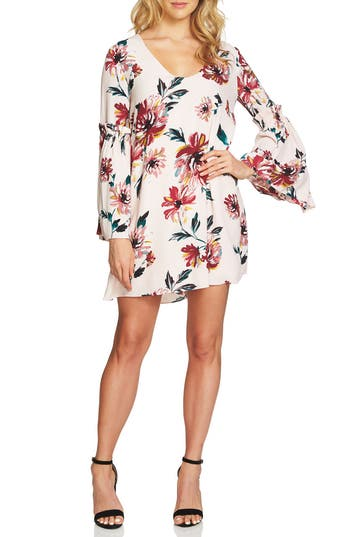 1.state Floral Print Swing Dress, Pink