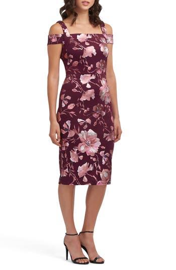 Women's Eci Off The Shoulder Scuba Dress, Size 4 - Red