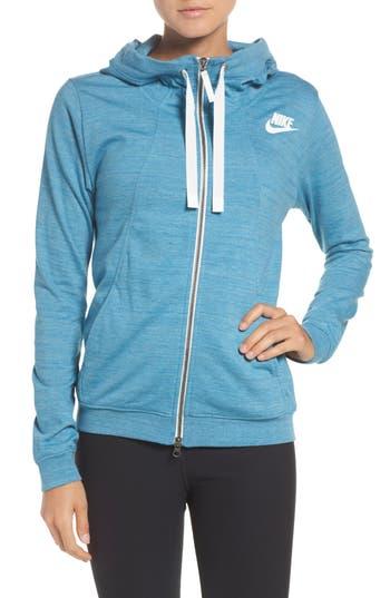 Nike Gym Zip Hoodie, Blue