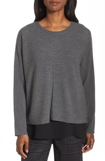 Eileen Fisher Merino Wool Sweater, Grey