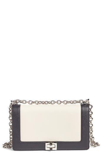 Serapian Milano Roberta Evolution Leather Crossbody Bag - White