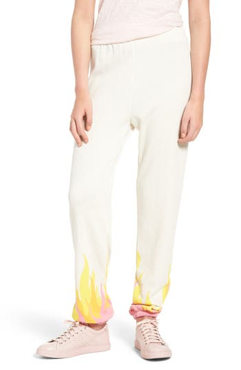 Women's Wildfox Wildfire Easy Sweatpants, Size X-Small - Ivory
