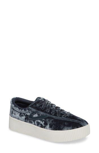 Tretorn Bold Perforated Platform Sneaker, Grey