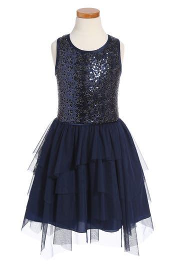 Girl's Nanette Lepore Sleeveless Sequin Dress, Size M (10-12) - Blue