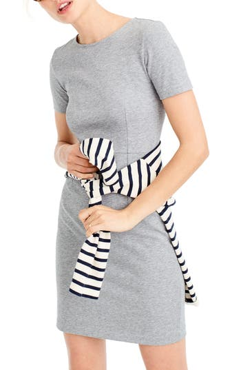 J.crew Cotton Knit Sheath Dress, Grey