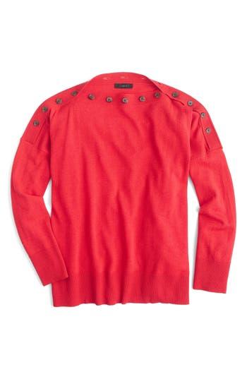 Women's J.crew Button Boatneck Sweater