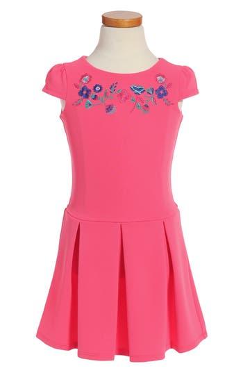Girl's Little Angels Drop Waist Dress, Size 4 - Pink