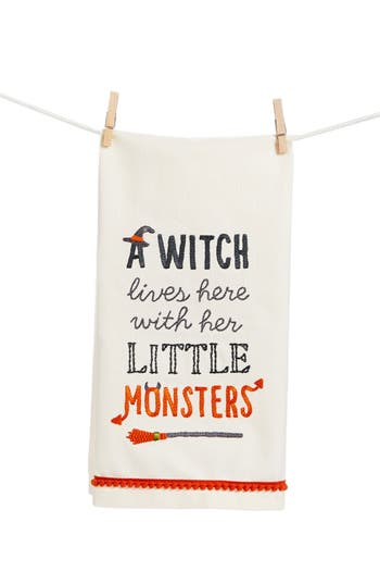 Primitives By Kathy Little Monsters Dish Towel, Size One Size - White