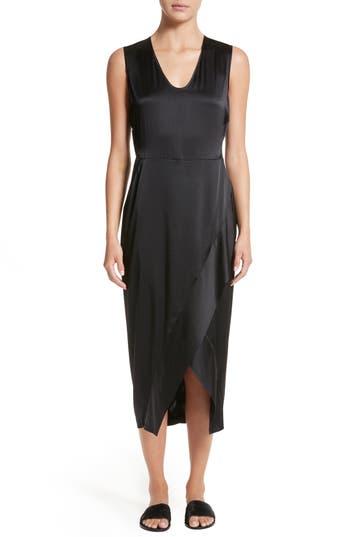 Zero + Maria Cornejo Mylla Stretch Silk Charmeuse Dress, Black