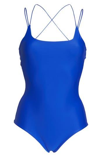 Mikoh Kilauea One-Piece Swimsuit, Blue