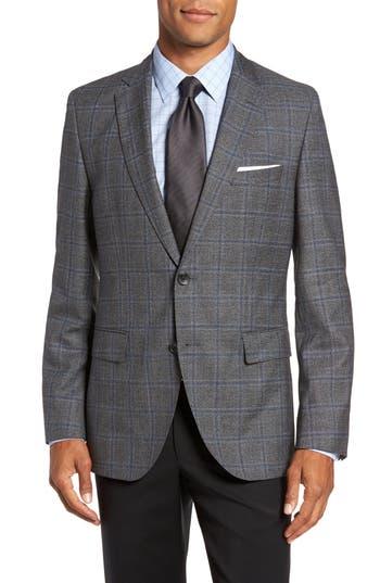 Boss Jeen Trim Fit Wool Sport Coat, S - Grey