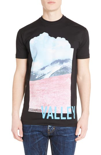 Dsquared2 Valley Graphic T-Shirt, Black