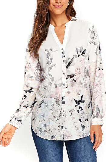 Women's Wallis Pretty Neutral Floral Print Shirt