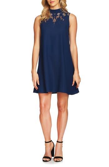 Cece Ava Embroidered Shift Dress, Blue