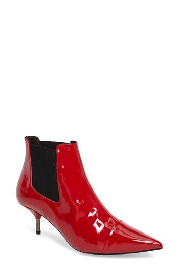 Topshop Monica Kitten Heel Bootie - Red