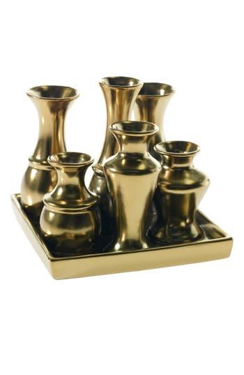 Accent Decor Chic Multi Container Ceramic Vase, Metallic