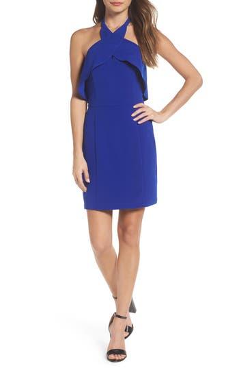 Adelyn Rae Halter Sheath Dress, Blue