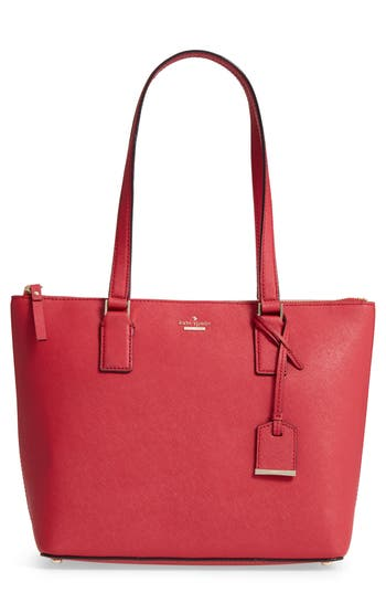 Kate Spade New York Cameron Street - Small Lucie Leather Tote - Red