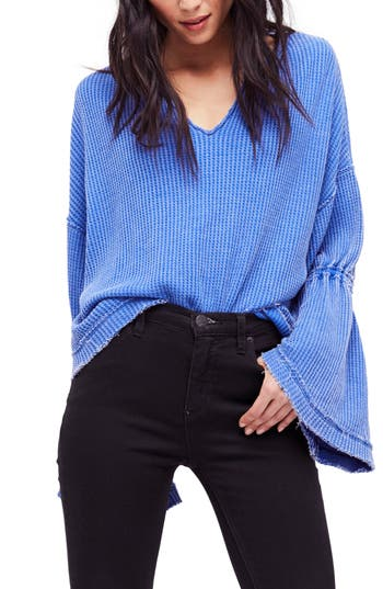 Free People Dahlia Thermal Top, Blue