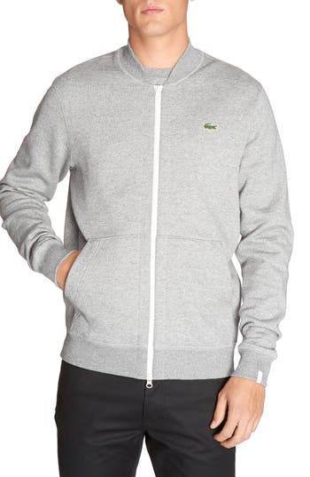 Lacoste Banana Collar Zip Jacket, Grey