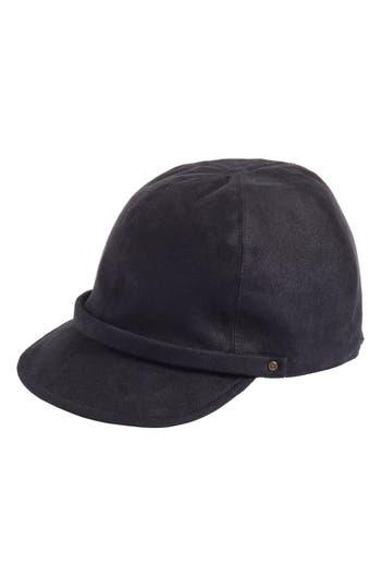 Women's Eric Javits Mika Packable Faux Suede Cap - Black