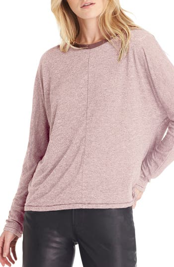 Michael Stars Dolman Sleeve Jersey Top, Size One Size - Pink