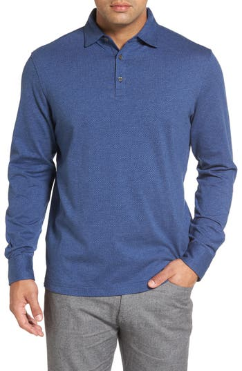 Men's Peter Millar Crown Right Turn Clyde Long Sleeve Polo