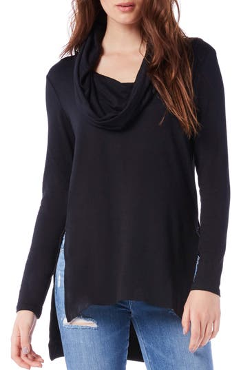 Michael Stars Cowl Hooded Tunic, Black