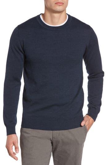 Rodd & Gunn Bannockburn Melange Merino Wool Sweater, Blue
