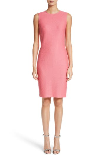 St. John Collection Hannah Knit Sheath Dress, Pink