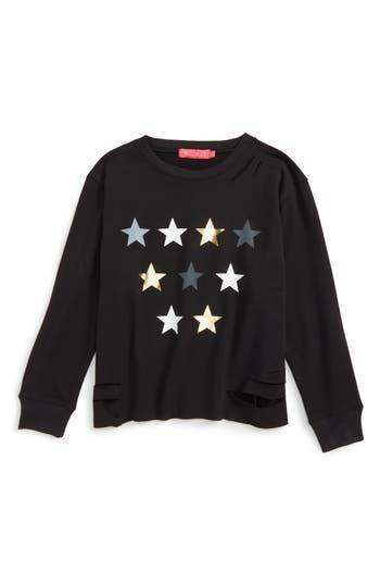 Girl's Me.n.u Star Graphic Destructed Sweatshirt