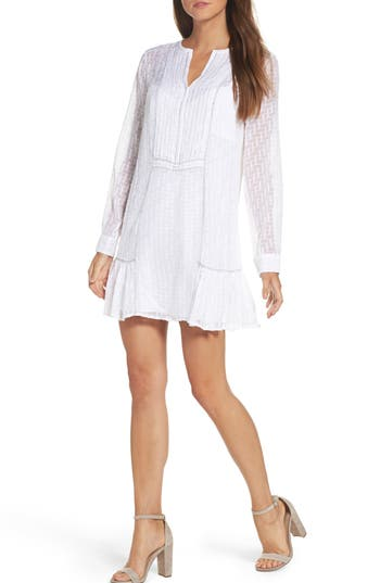 Bcbgmaxazria City Woven Shift Dress, White