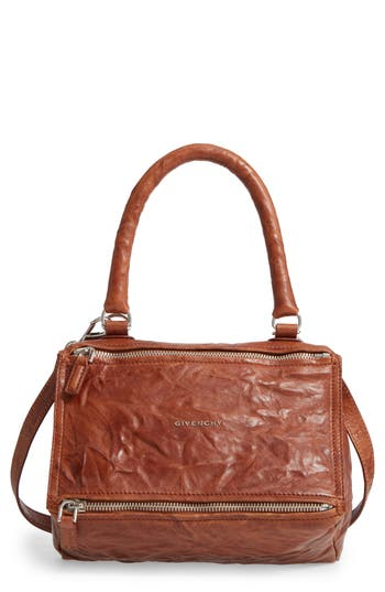 Givenchy 'Small Pepe Pandora' Leather Shoulder Bag - Brown