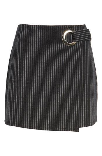 Leith Grommet Pencil Skirt, Black