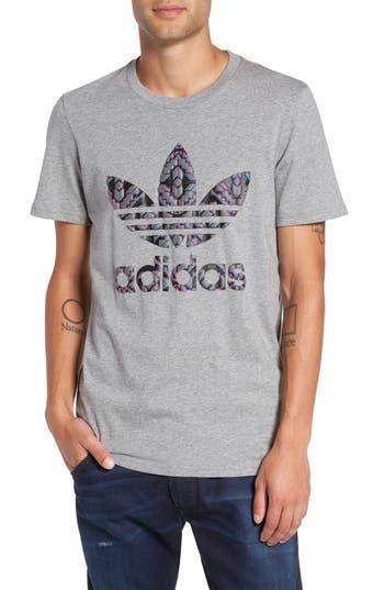 Adidas Originals Chicago Stacked 3D Logo T-Shirt, Grey