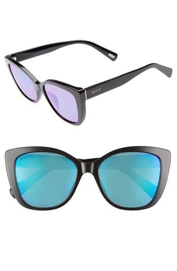 Women's Diff Ruby 54Mm Polarized Sunglasses - Black/ Blue