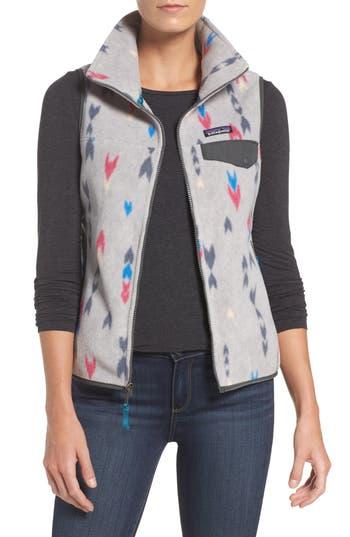 Women's Patagonia Snap-T Fleece Vest, Size X-Small - Grey