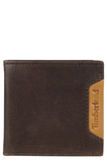 Men's Timberland Cloudy Leather Wallet - Brown